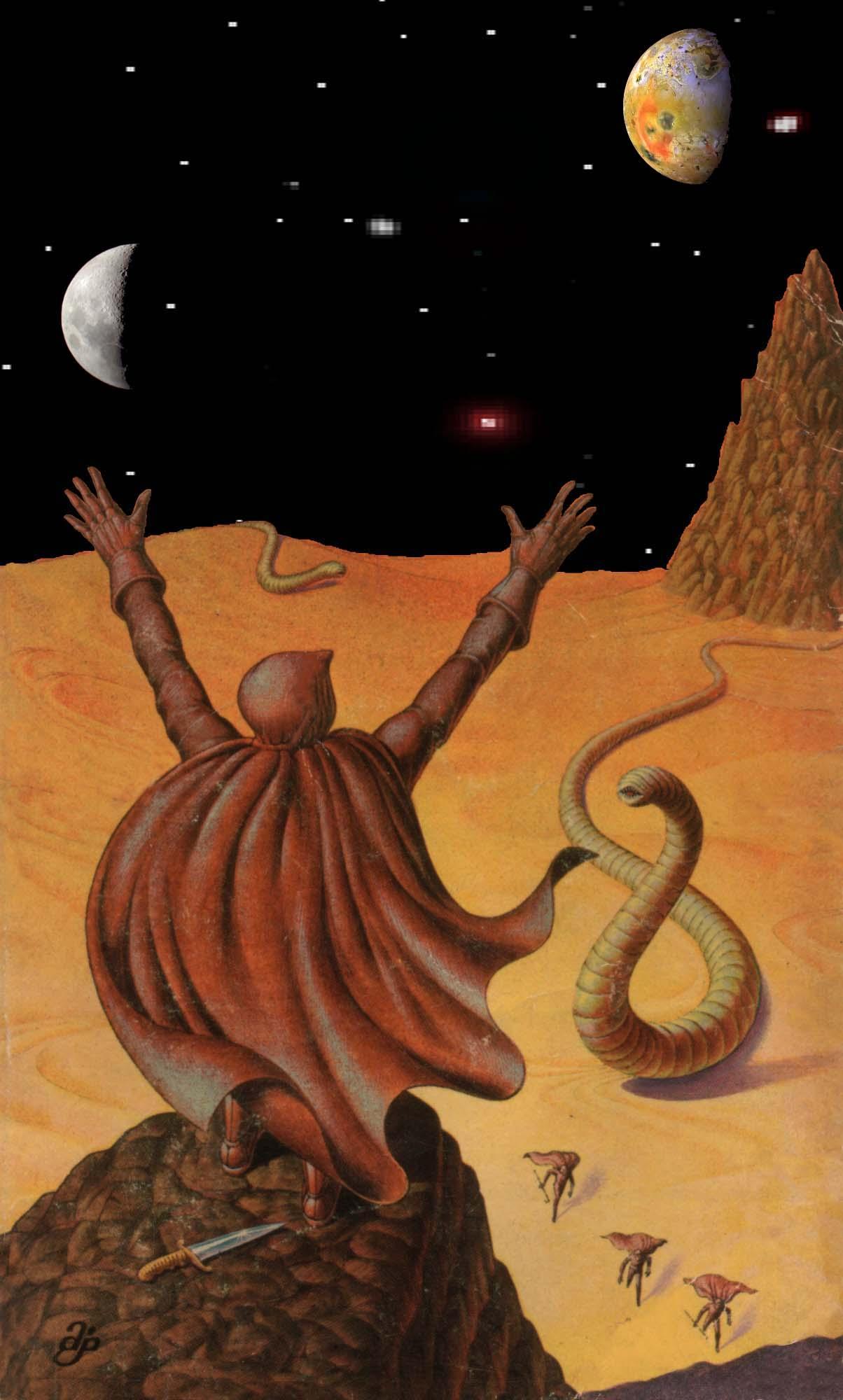 DUNE: Paul-Muad'Dib and the Worms (Art by John Schoenherr... Computer Embellishments by J.C. Maçek III)